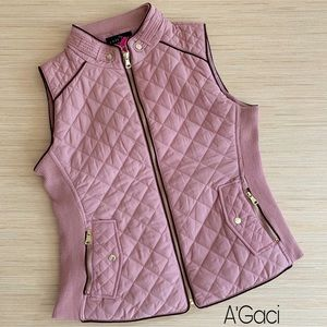A'Gaci Quilted Padding Vest Size Medium NWT